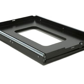 This slide out tray offers easy access to a fridge (52L and smaller) and/or other stored gear with a low profile, rigid design. Product Dimensions: 465mm (18.3'') W x 730mm (28.75'') L x 65mm (2.6'') H