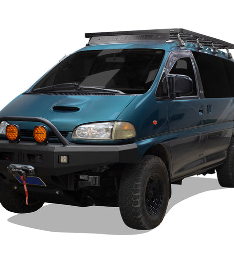 Take your Mitsubishi Delica Space Gear L400 (1994-2007) to new worlds with this Front Runner Slimline II Roof Rack Kit. Clear up precious interior cargo space by easily mounting your adventure gear and toys to the roof rack that's made off-road tough.