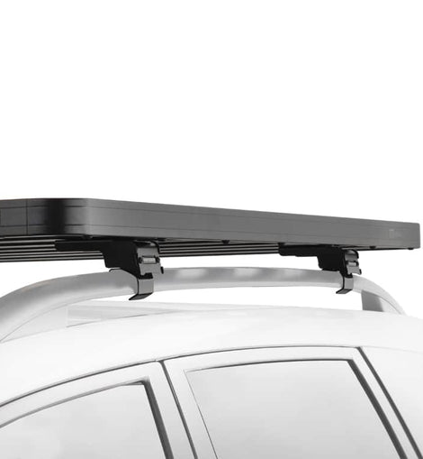 """This 1560mm/61.4"""" long, full-size, Slimline II cargo roof rack kit contains the Slimline II Tray, Wind Deflector and 6 Grab-On Feet to mount the Slimline II Tray to the roof rails of your Mercedes ML. This system installs easily with off-road tough feet that grab on to the existing factory/OEM roof rails. No drilling required."""