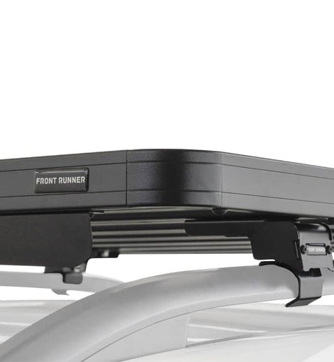 This 1964mm/77.3 long, full-size, Slimline II cargo roof rack kit contains the Slimline II Tray, Wind Deflector and 3 pairs of Grab-On Feet to mount the Slimline II Tray to the roof rails of your Mercedes Viano (2003-2014). This system installs easily with off-road tough feet that grab on to the existing factory/OEM roof rails. No drilling required.