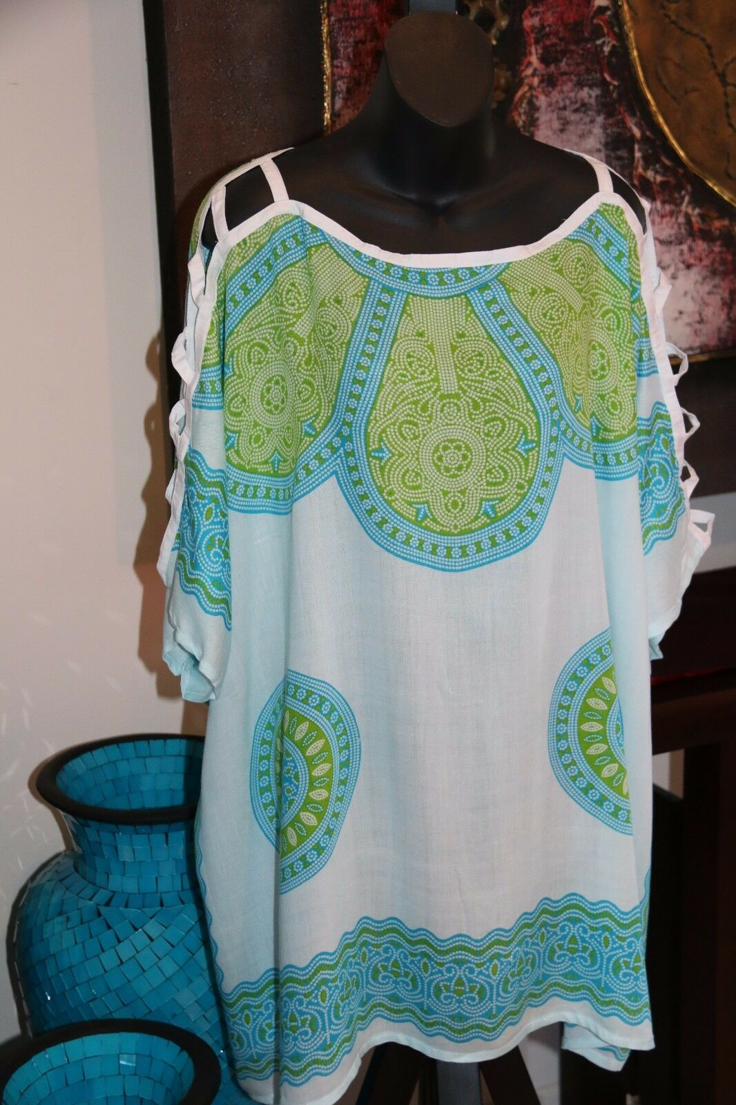 Balinese Kaftan Top - Beachwear / Casualwear - NEW 9 COLOURS AVAIL - One Size