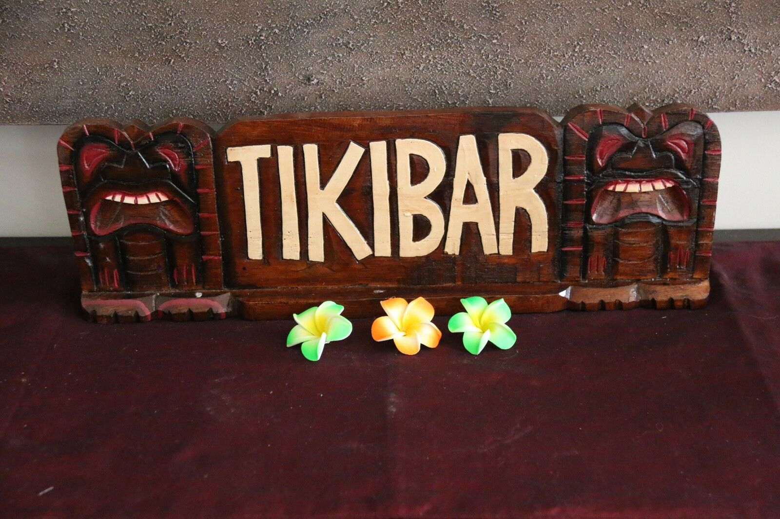 NEW Hand Crafted & Carved Free Standing Double Sided TIKI BAR Sign