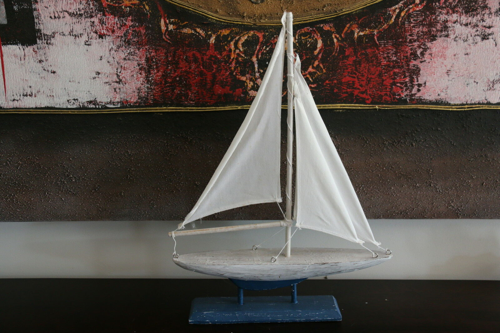 NEW Balinese Handmade Yacht on Stand  -  Balinese Nautical Range