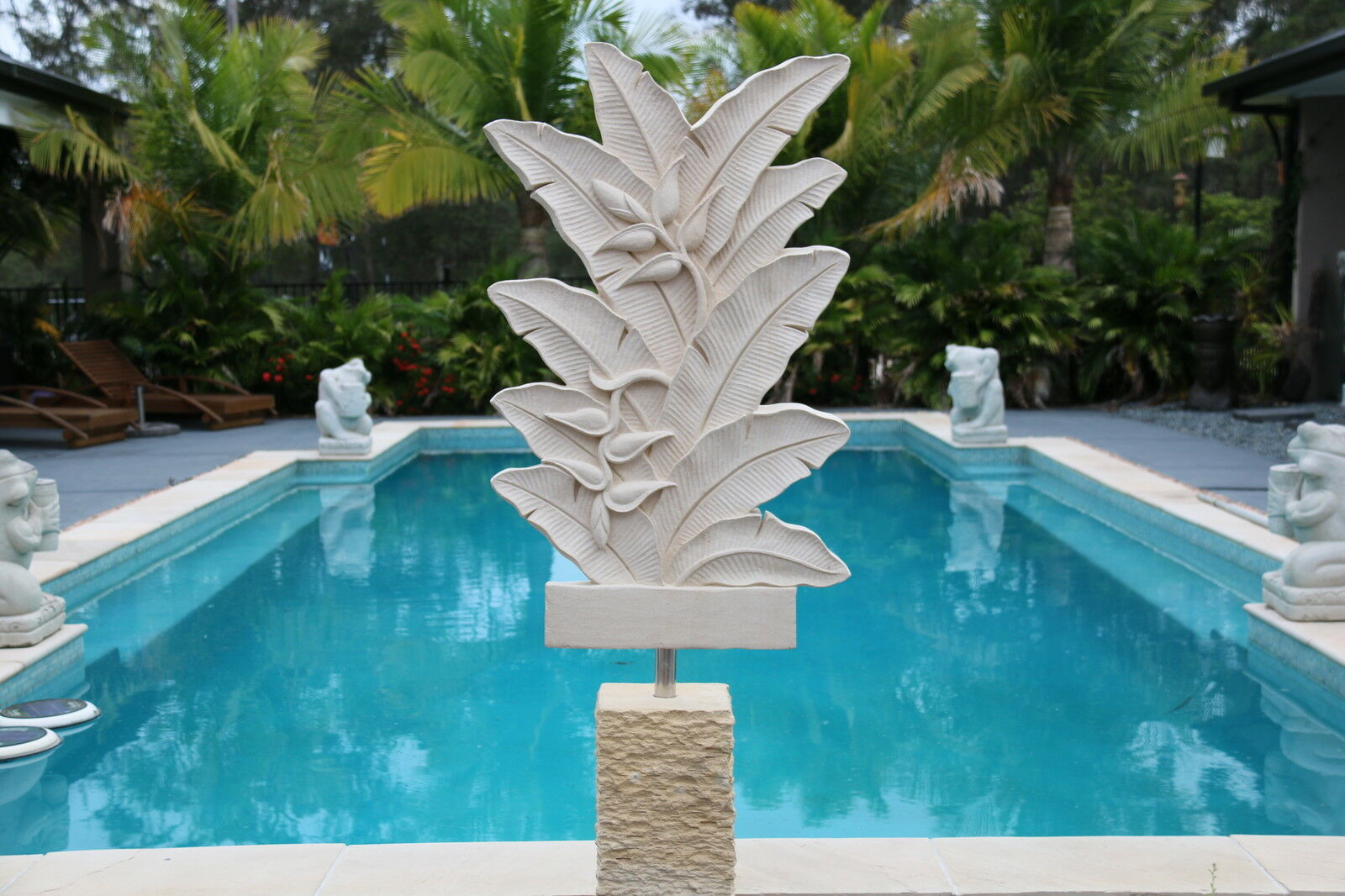 NEW Balinese Hand Carved Limestone Free Standing Sculpture - Bali Garden ArtSALE