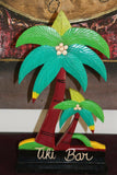 NEW Hand Crafted & Carved Freestanding TIKI BAR Sign - Tropical Bali Bar Sign