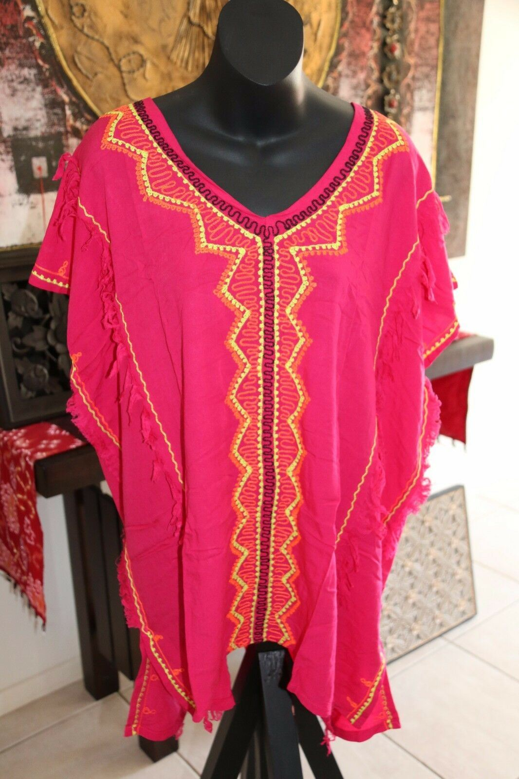 Balinese Kaftan Top - Beachwear / Casualwear - MANY COLOURS AVAIL - One Size