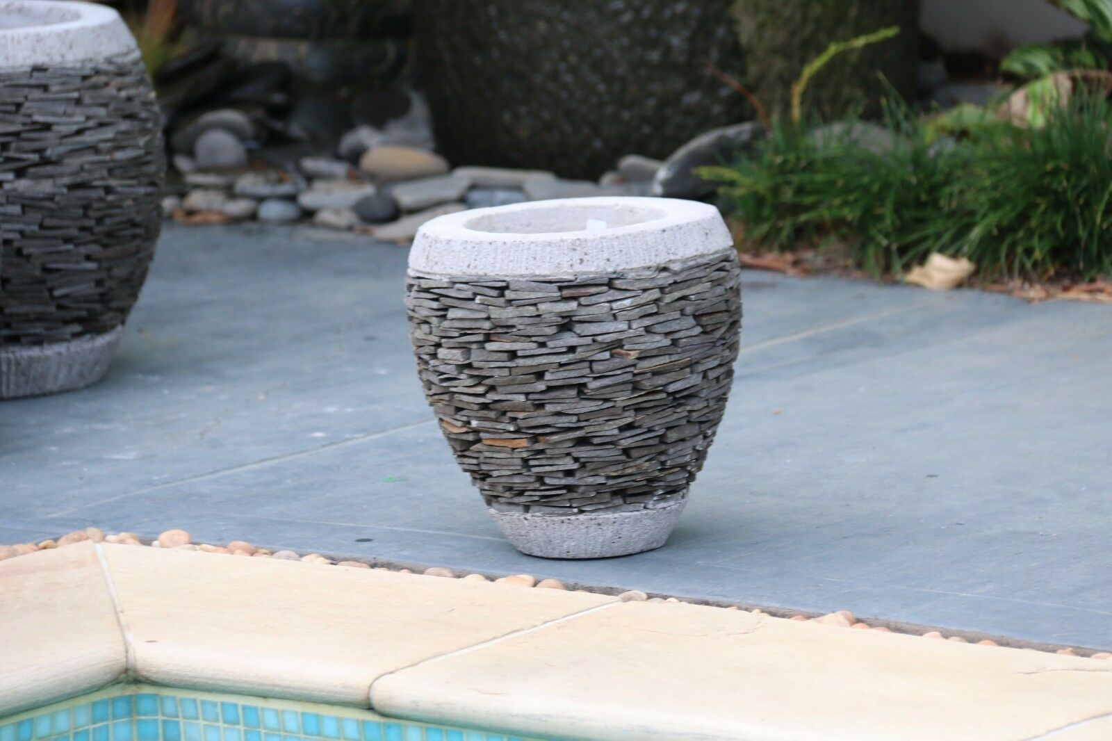 NEW Balinese SLATE Pots - Hand Crafted Bali Pots - 4 Designs / Sizes Available