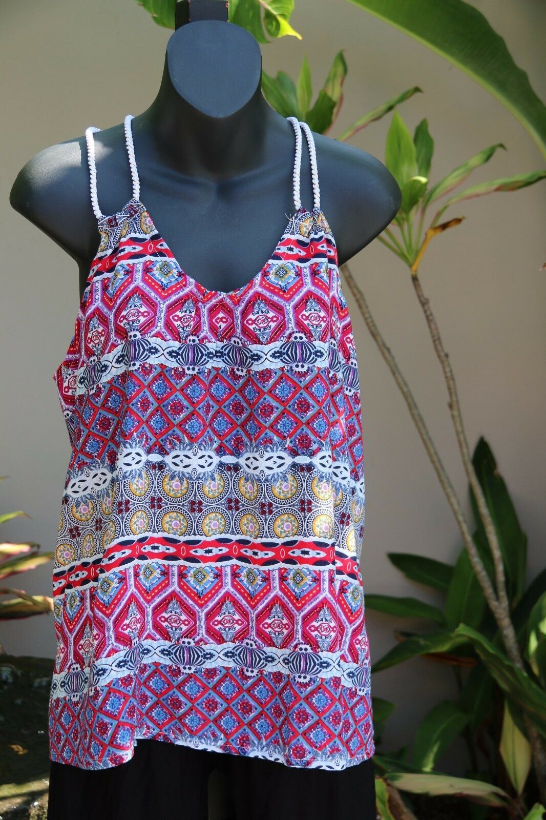 NEW Ladies Cotton Bali Top / One Size / Cool Balinese Summer Casual Top