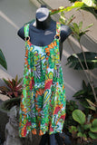 NEW Cotton Summer Sun Dress - One Size - Bali Beach Dress - Casual Cotton Dress