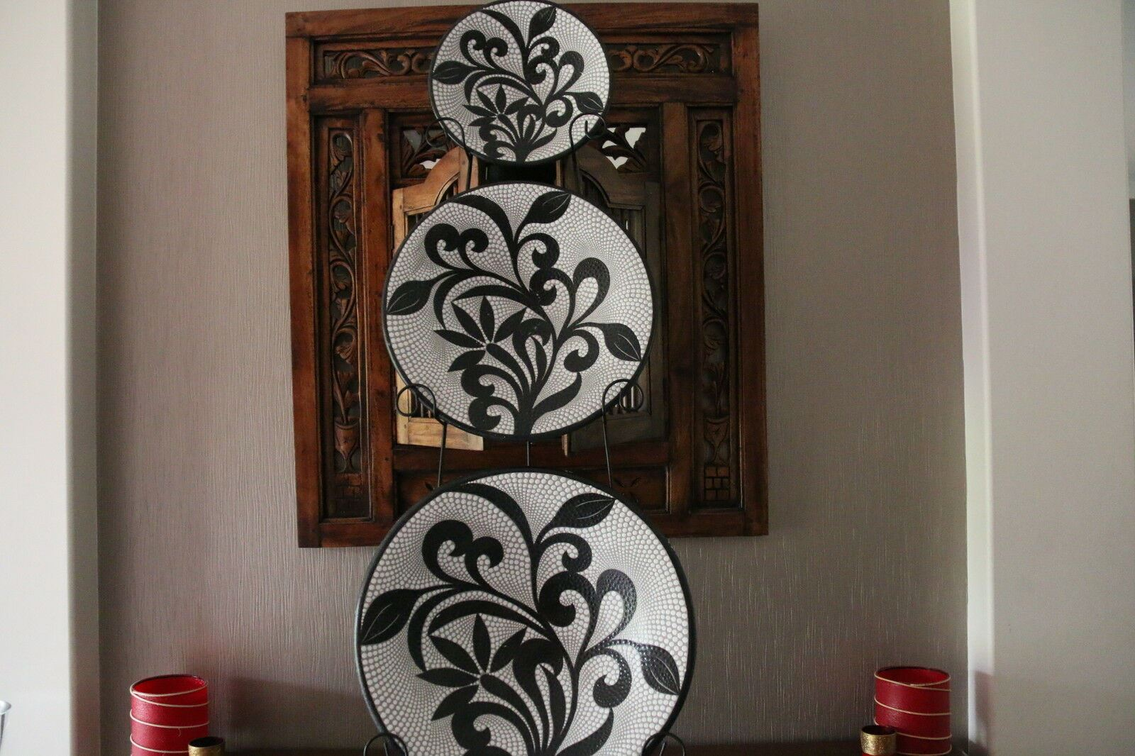 Brand New Balinese Dot Art Hand Crafted Plates - Dot Art Terracotta Plate - Bali