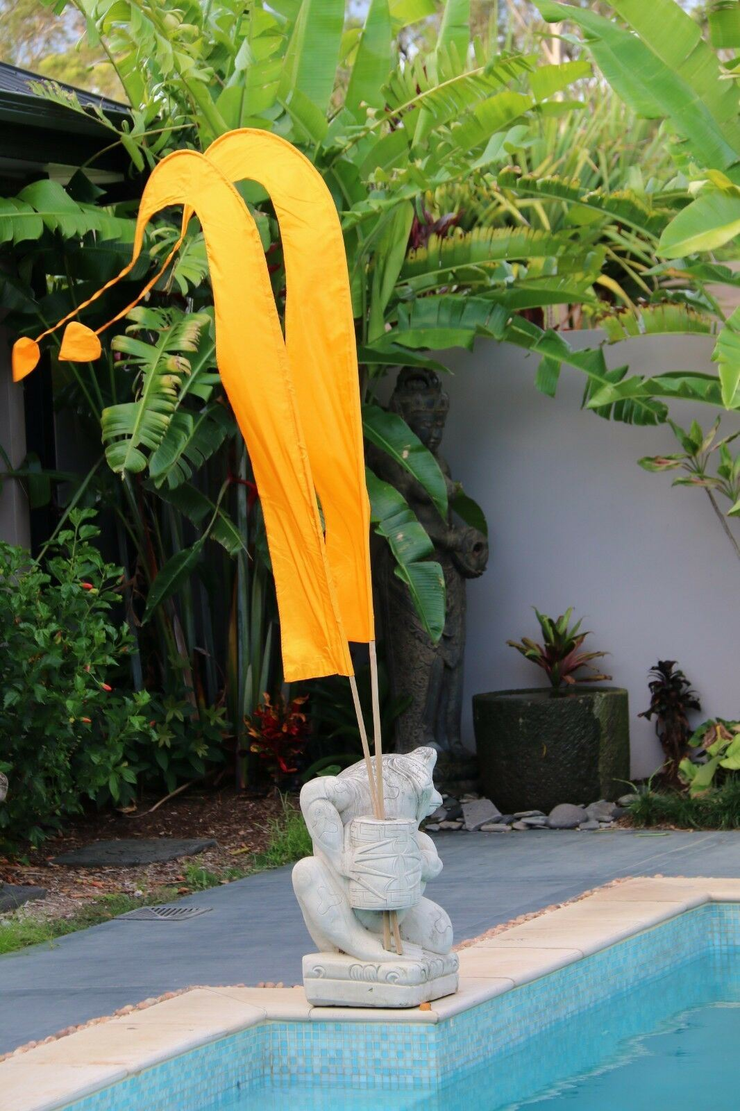 NEW Large 3m Bali Umbul Flags - No Pole - 11 Colours - Wedding Party Flags