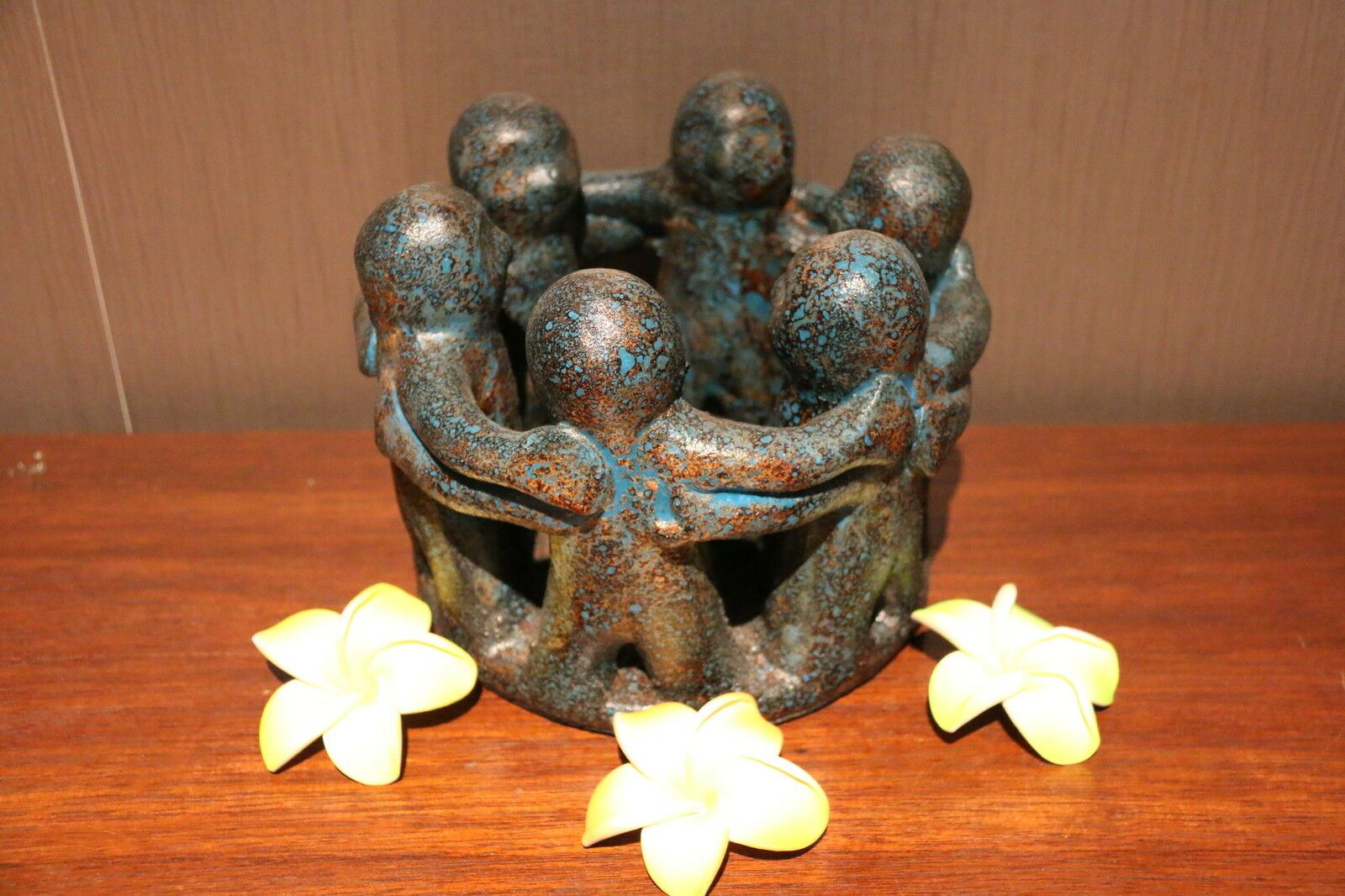 NEW Circle of Friends Candle Holder - Bali Circle 6 Friends MANY COLOURS AVAIL.