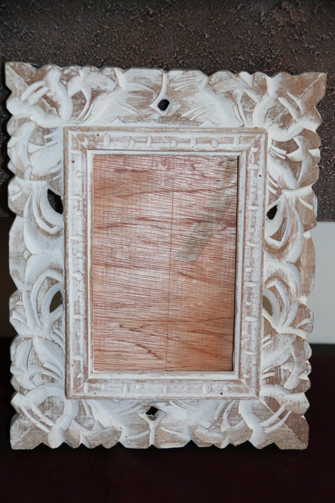 NEW Bali Hand Carved Wood Photo Frame 2 COLOURS AVAILABLE - Suit 10 x 15cm Photo