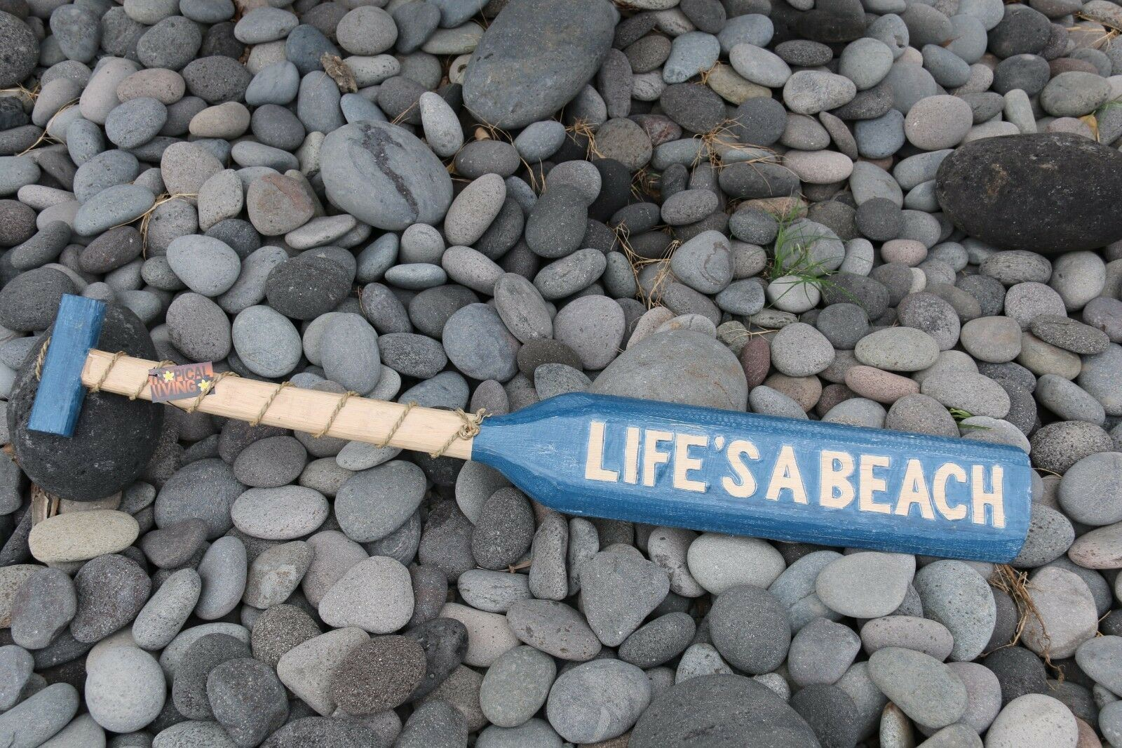 NEW Balinese Hand Crafted LIFE'S A BEACH Paddle Decor - 3 Colours Available
