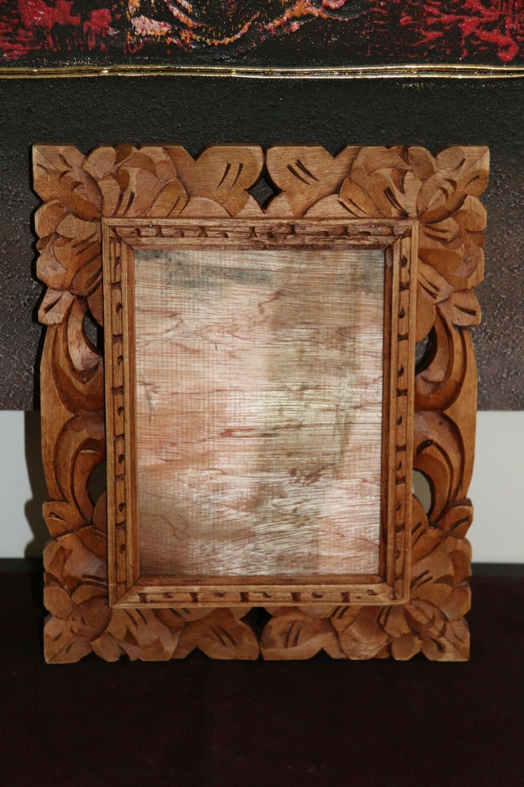 NEW Bali Hand Carved Wood Photo Frame 3 COLOURS AVAILABLE - Suit 20 x 15cm Photo