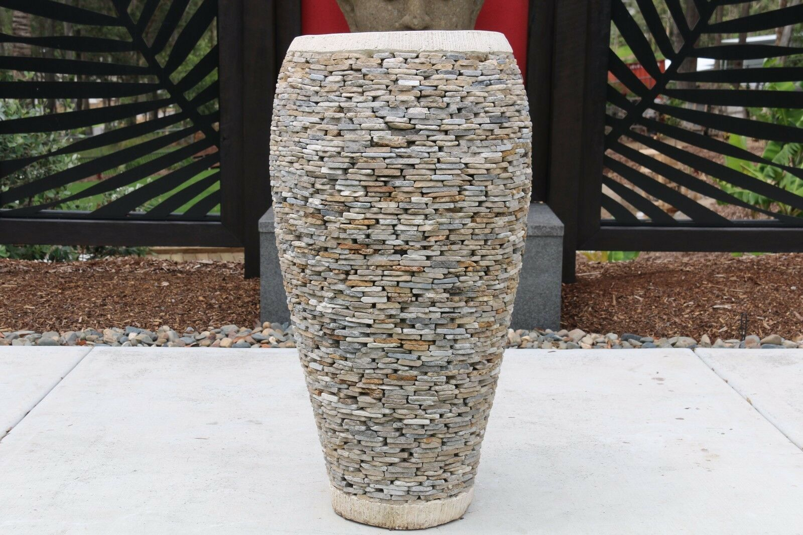 NEW Balinese Hand Crafted Marble Chip Pot - Balinese Pot - Bali Garden Pots