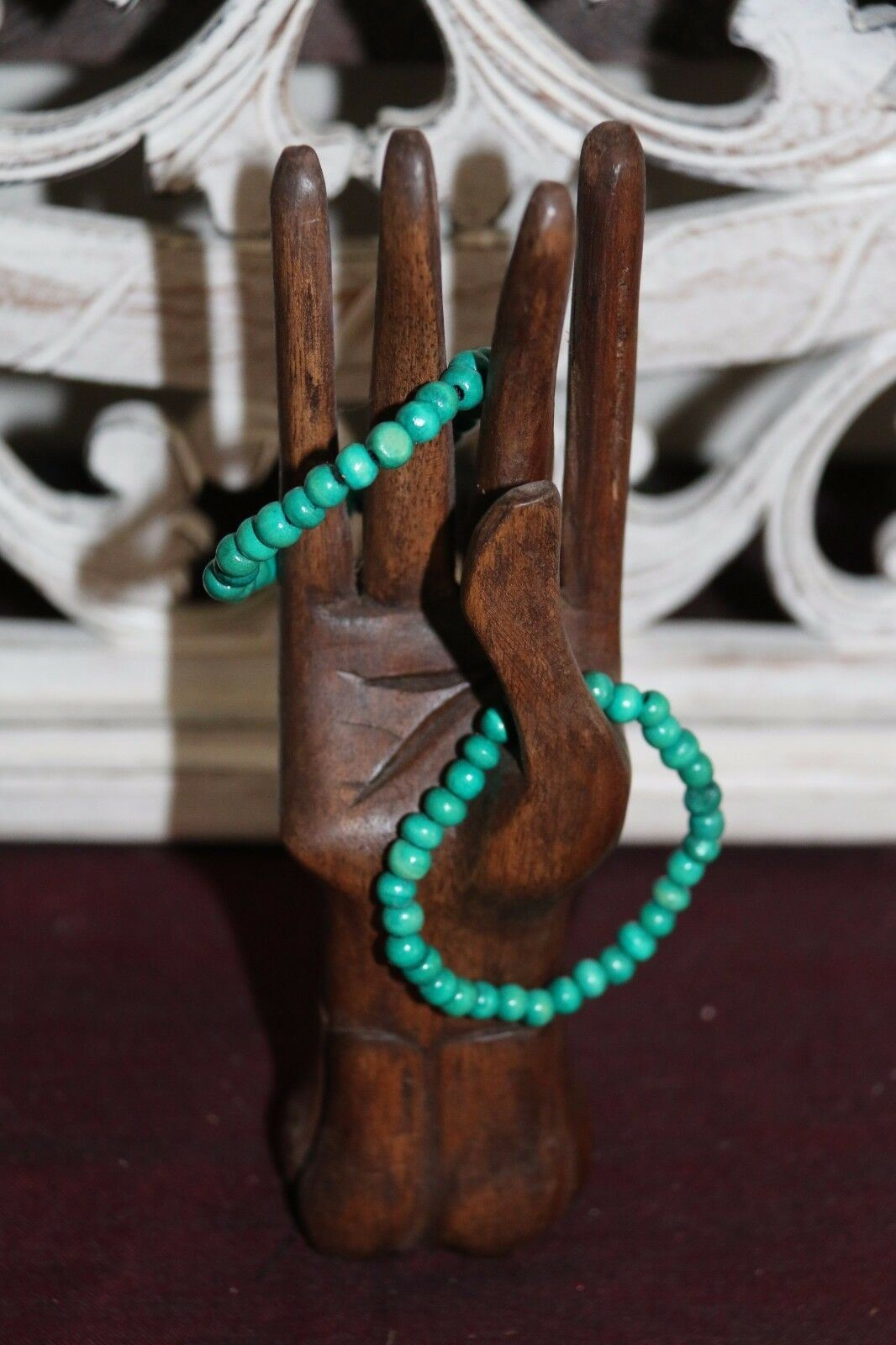 NEW Hand Crafted Wooden Bead Bracelet - MANY COLOURS - Perfect Inexpensive Gift