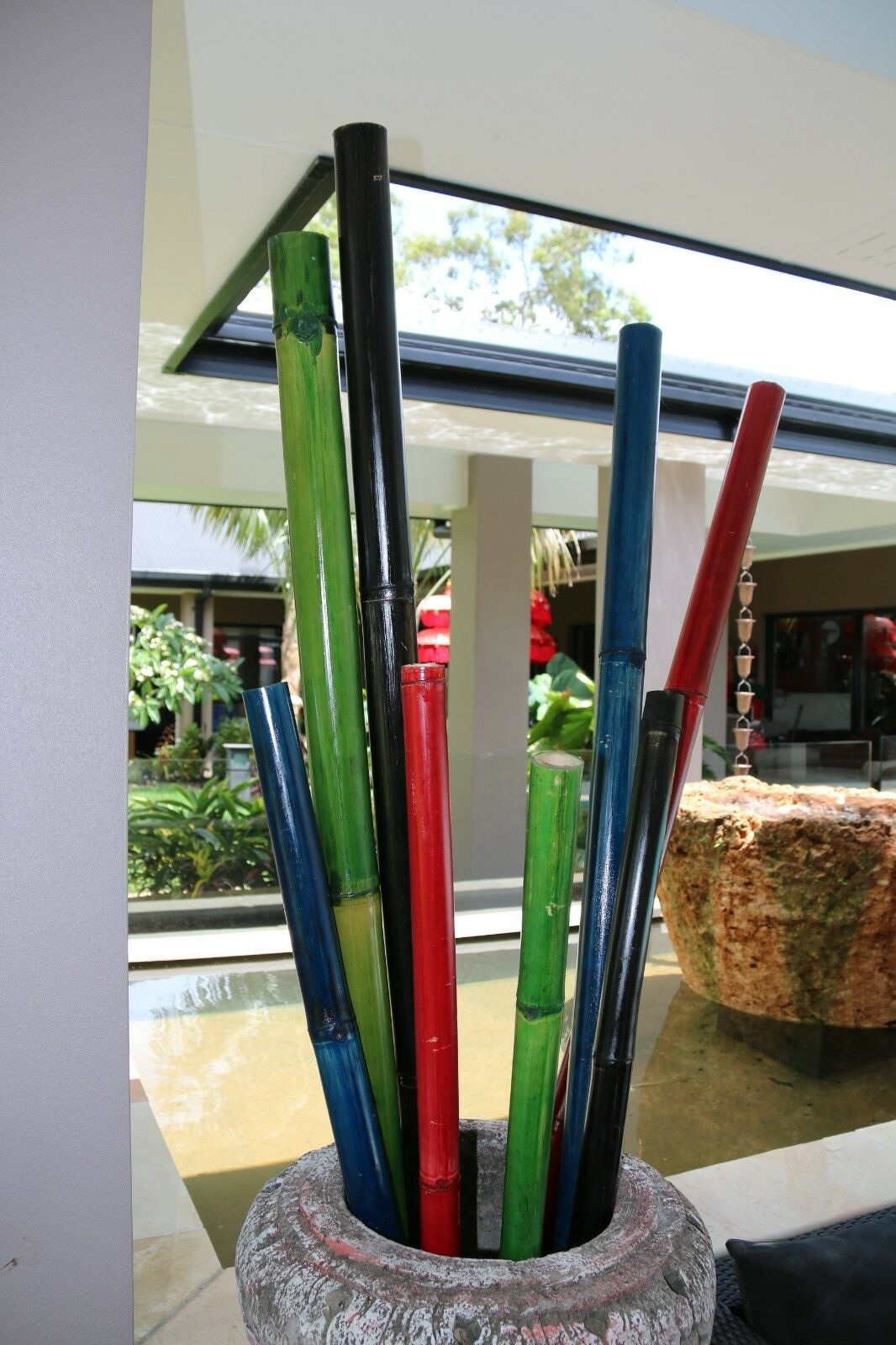 NEW Balinese Bamboo Decor Sticks - 4 Colours Available - Coloured Bamboo Sticks