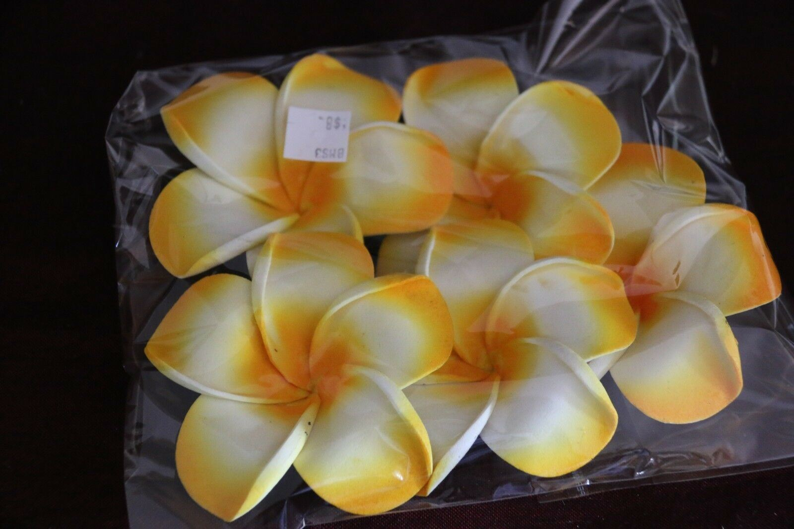 NEW Large Floating Frangipanis / PACK of 5 Large Bali Wedding Scatter Flowers