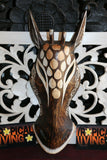 NEW Balinese Hand Carved Wooden African Animal Mask -  African Wall Art