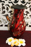 NEW Balinese Mosaic Decorative Vase - 2 Sizes!!  Bali Mosaic Vase Red