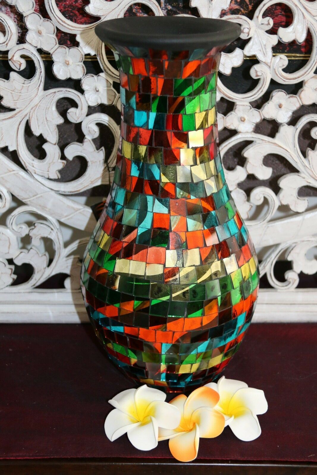 NEW Balinese Mosaic Decorative Vase - 2 Sizes!!  Bali Mosaic Vase Mixed