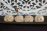 NEW Hand Crafted Balinese Woven Decor Ball - 6 COLOURS - Bali Homewares
