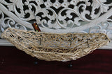 NEW Balinese Hand Crafted Fruit Open Basket - Woven Bali Bowl - Balinese Basketw