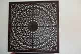 NEW Balinese Hand Carved Natural Washed Mandala Wood Panel - Bali Mandala Panel