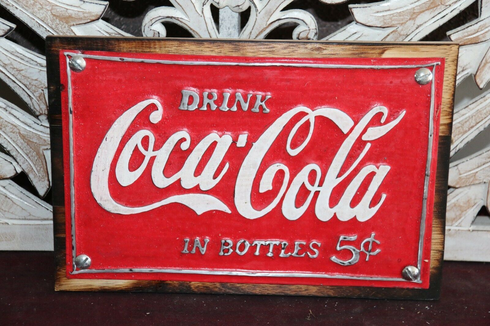 NEW Balinese Hand Crafted Nostalgic Coca-Cola Signs - FREE POST!!