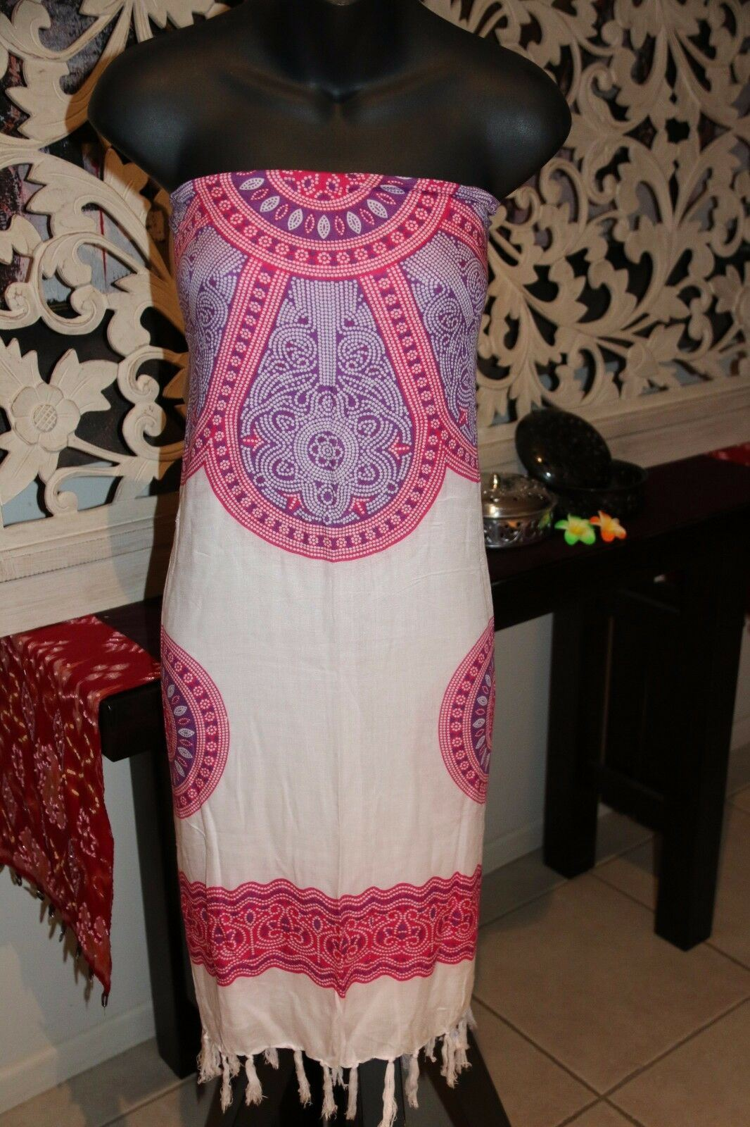 Bali Beach Sarong - Summer Beach Sarong - Bikini Cover Up - 3 COLOURS AVAILABLE