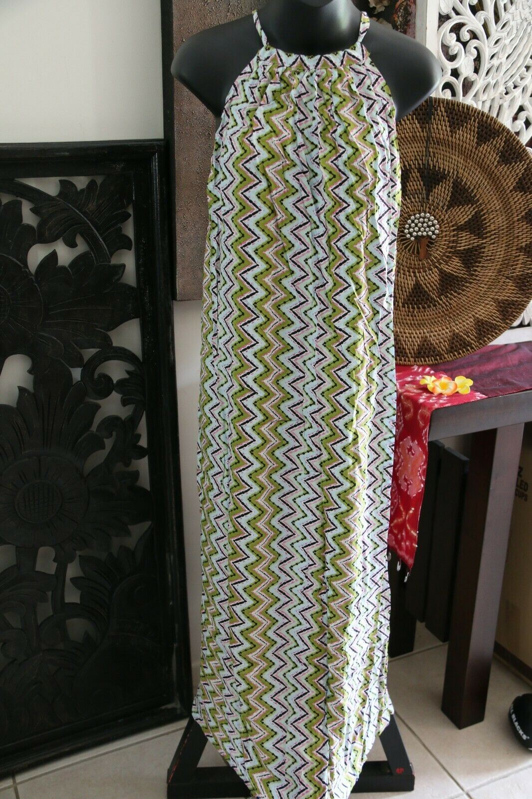 NEW Ladies Cotton Bali Maxi Dress / One Size / Summer Dress MANY COLOURS