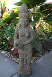 NEW Hand Carved Balinese Greenstone Dewi Sri Statue / Water  Feature