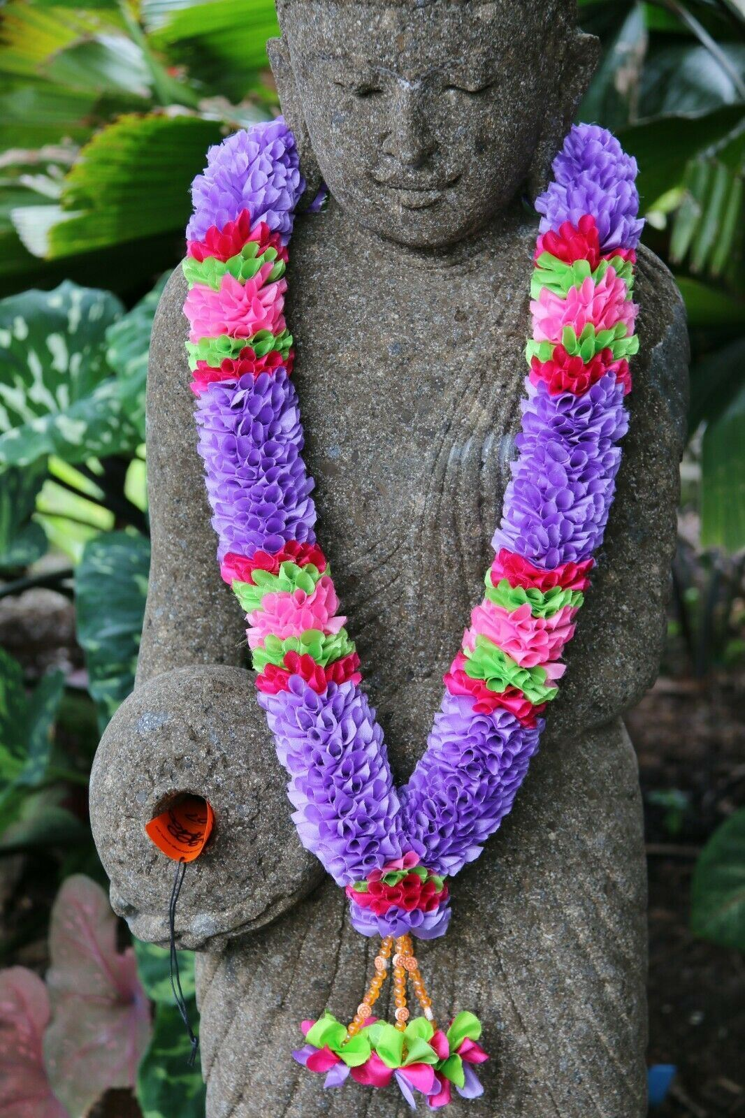 NEW Hand Made Balinese Flower Garland ( Hindu Jai Mala ) MANY COLOURS AVAILABLE