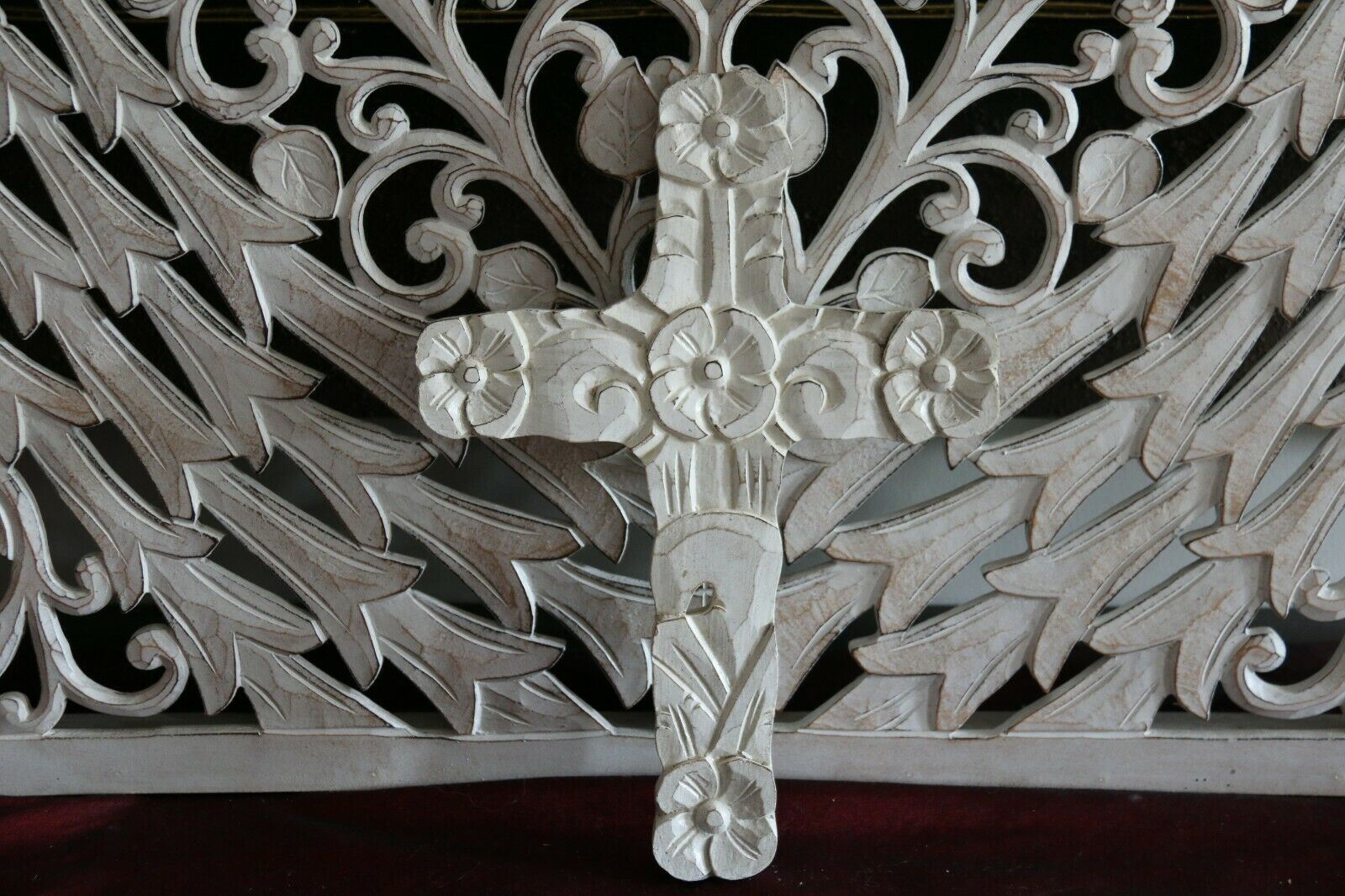 NEW Wall Hung Balinese Small BOHO Style Handcrafted Cross - 4 Colours Available