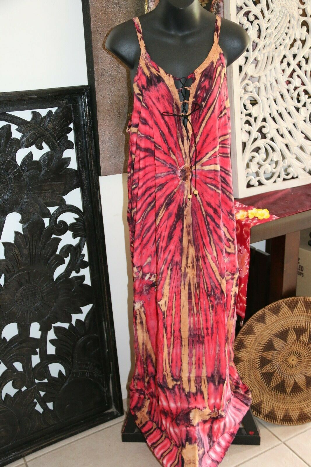 NEW Ladies Cotton Bali Maxi Dress / 5 COLOURS / Cool Casual Maxi Dress