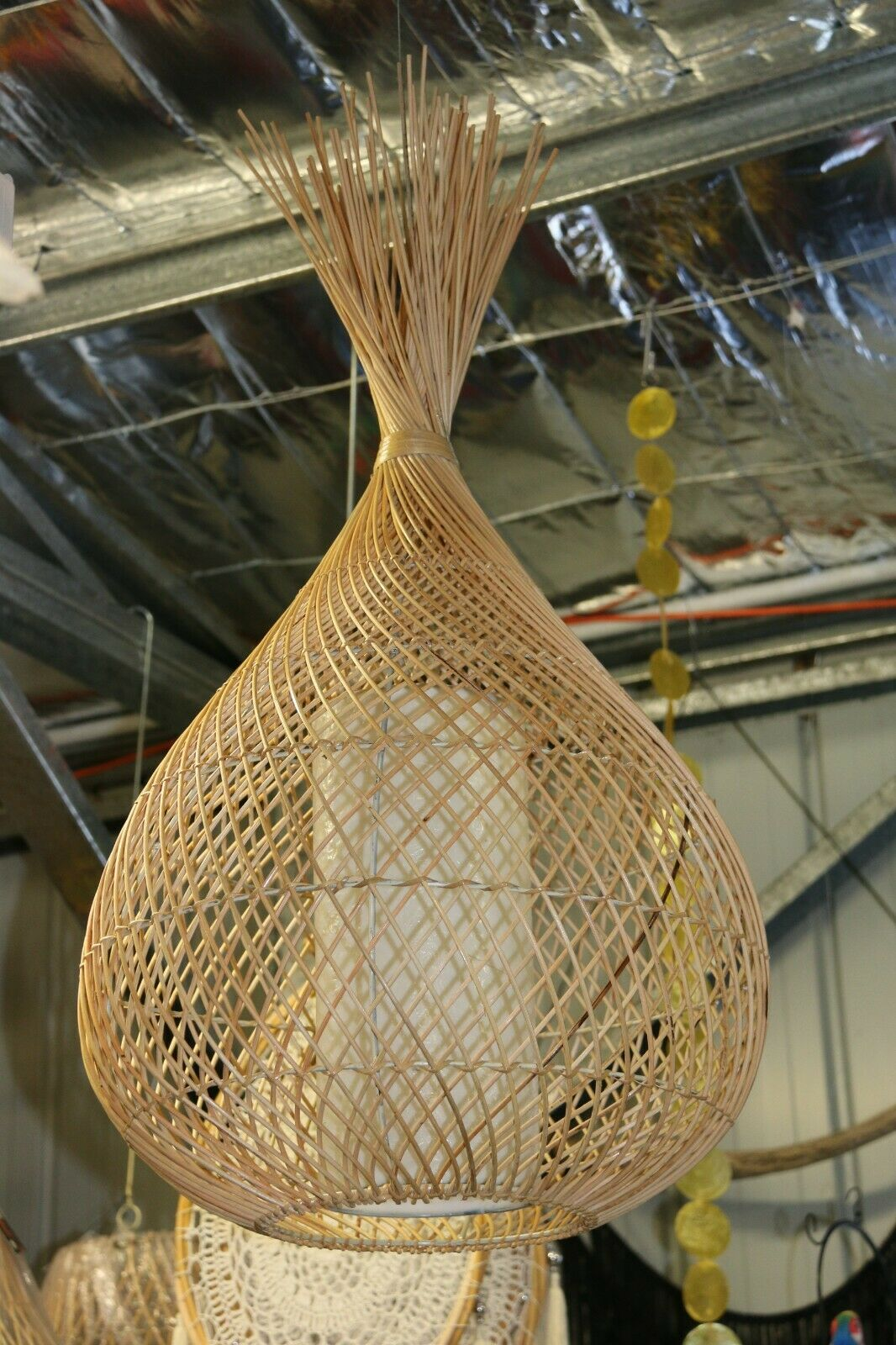 NEW Large Rattan / Fibreglass Pendant Light Shade