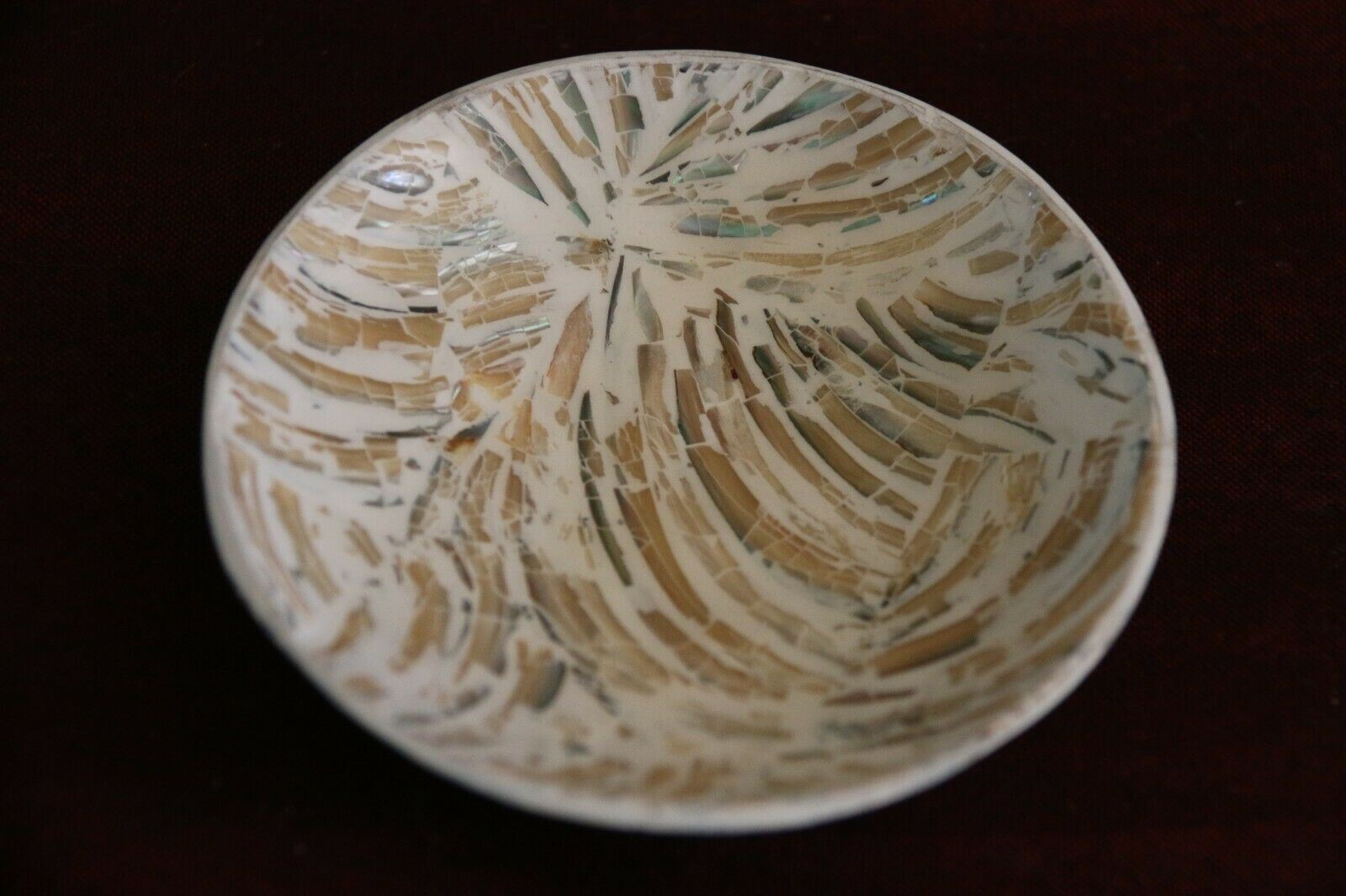 NEW Balinese Hand Crafted Resin/Shell Bowl - Bali Dip / Dipping Sauce Bowl
