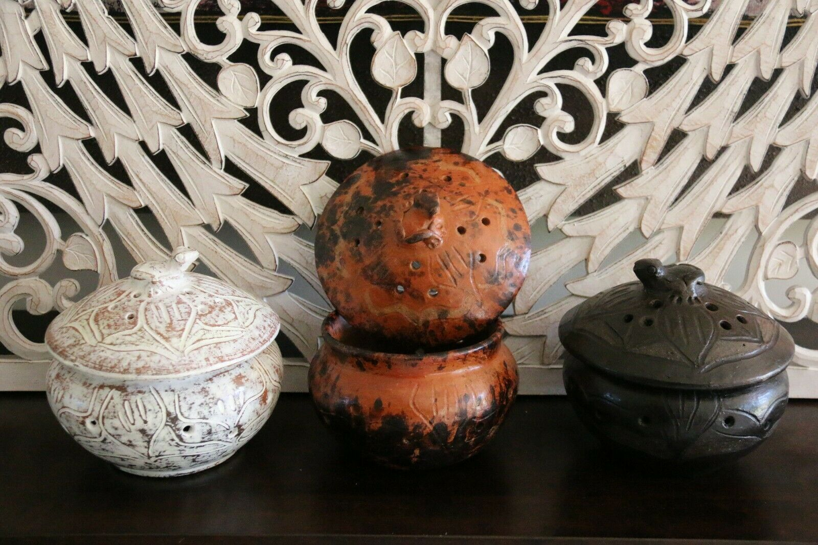 NEW Balinese Terracotta Frog Mozzie Coil Holder - Choose from 3 Colours!!