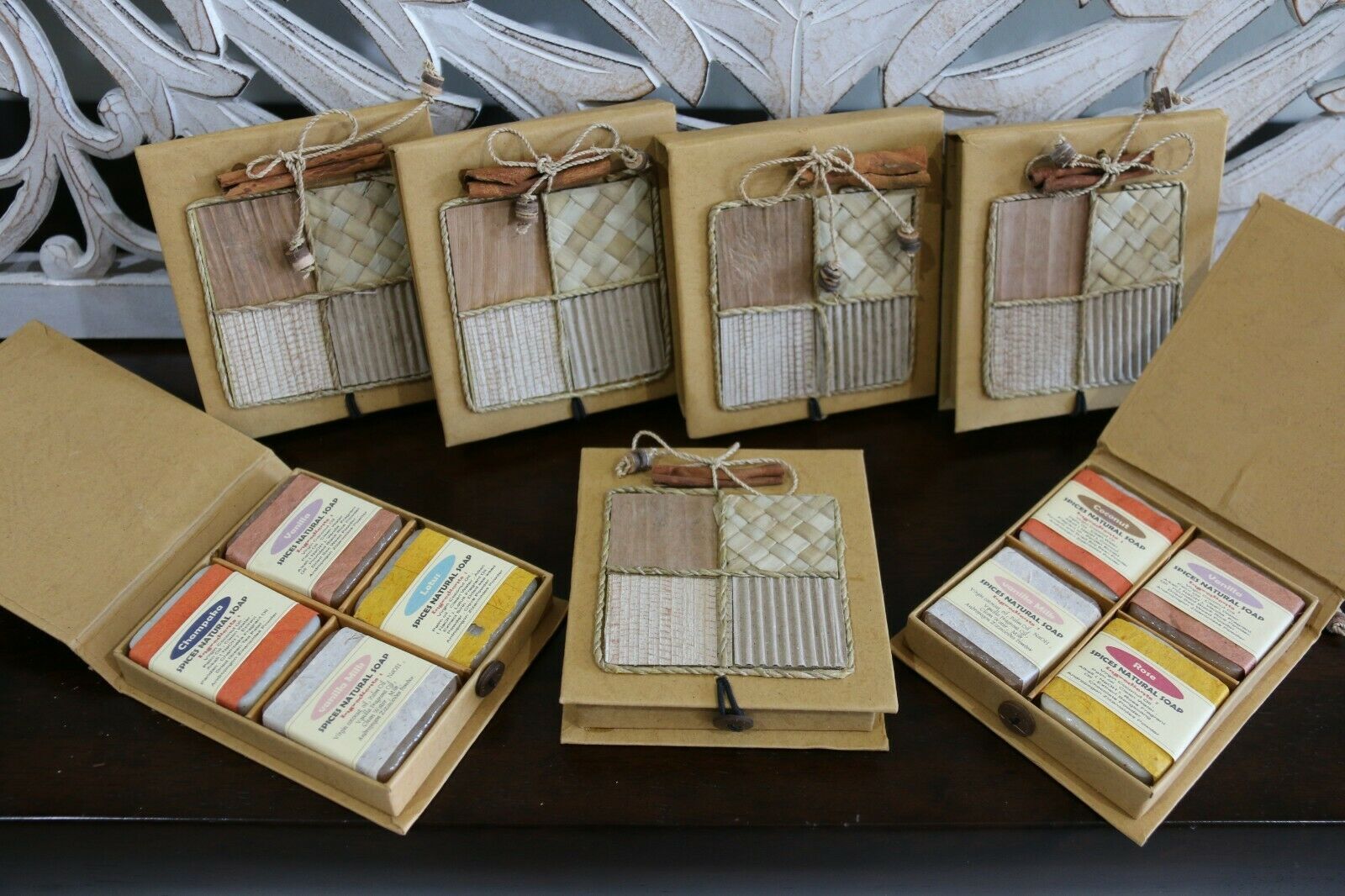 Balinese Hand Made Guest Soap Giftpack - Bali Fruit & Spice Soap - Asst Fragranc
