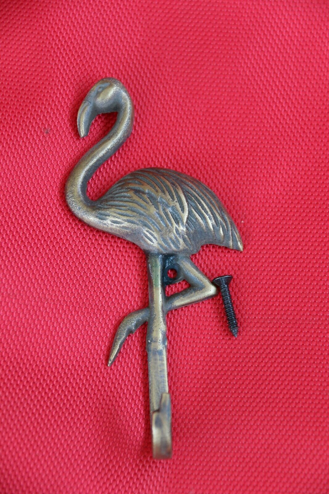 New BRASS Flamingo Hook - Decorative Wall Hook - Furniture Fittings & Acces.
