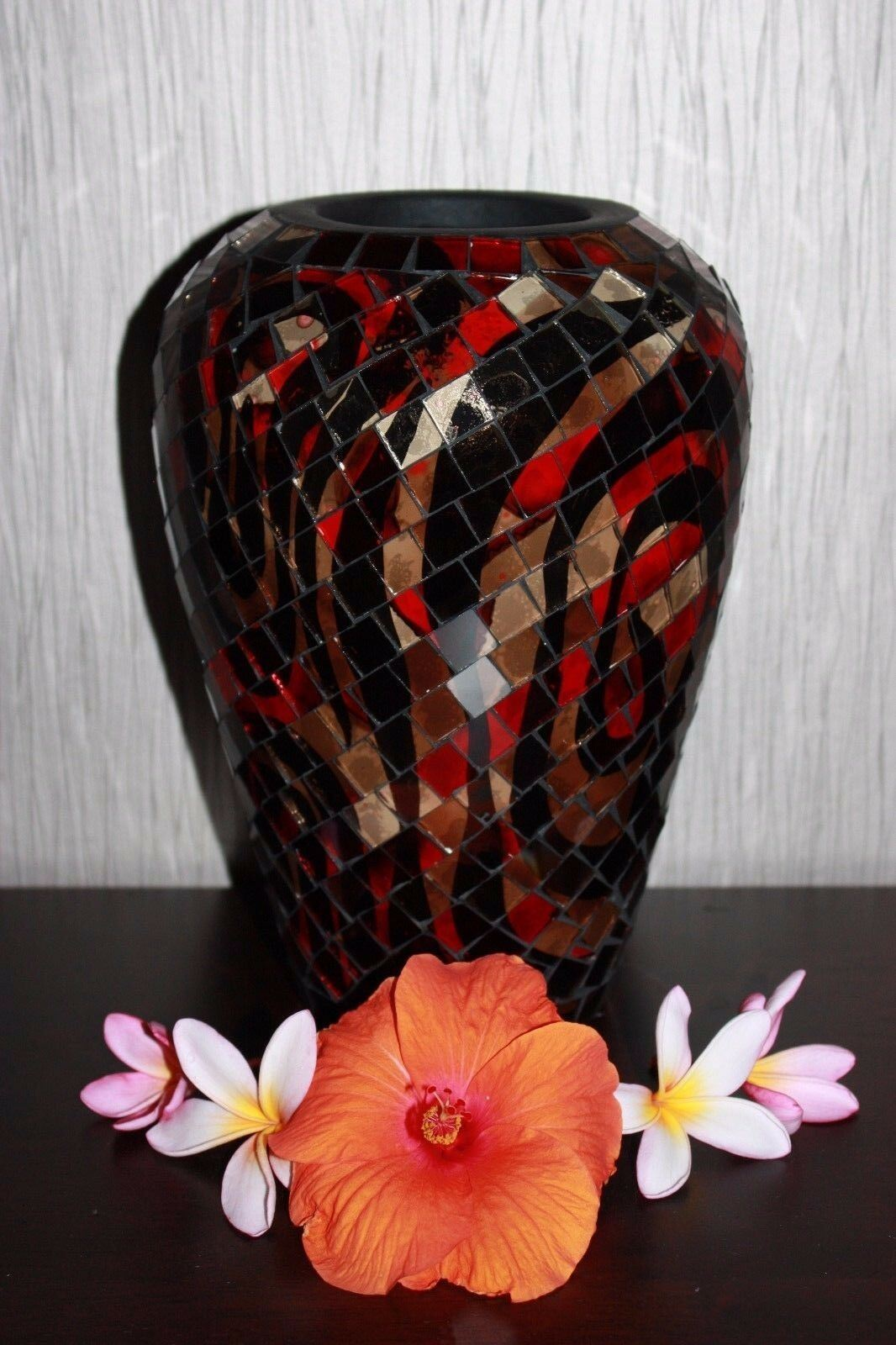 NEW Hand Crafted Balinese Mosaic Vase - Bali Mosaic Feature Vase - MANY COLOURS