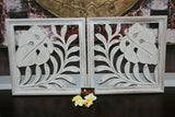 NEW Balinese Carved MDF/Wood Wall Panels - Tropical Wall Art - 2 Styles Avail