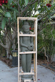 Brand New Hand Carved Polished 1.8m Green Stone Buddha Balinese Water Feature