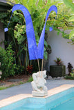 NEW X Large 5m Bali Umbul Flags - No Pole - 11 Colours - Wedding Party Flags