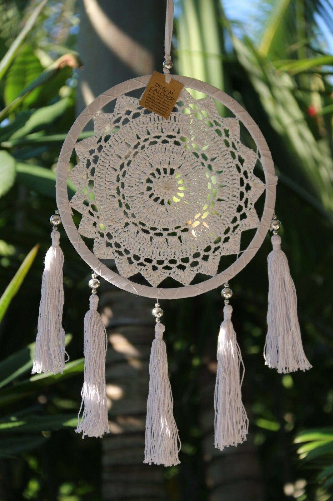 NEW Bali Dream Catcher - Crochet, Tassels & Beads Trim - 5 Colours Available