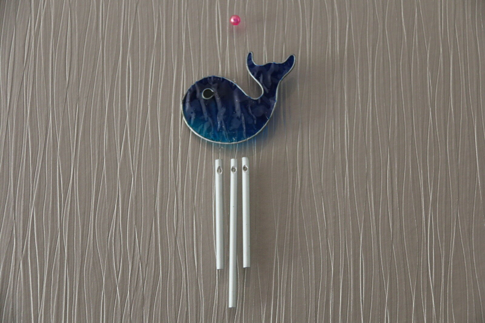 Brand New Bali Handmade Windchime - Leadlight Suncatcher Whale Windchime