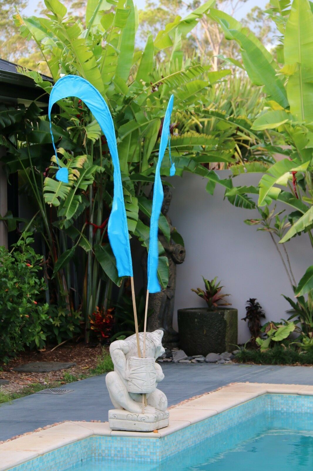 NEW Medium Bali Umbul Flags with Pole - Bali Flag Decor 11 Colours Wedding Flags