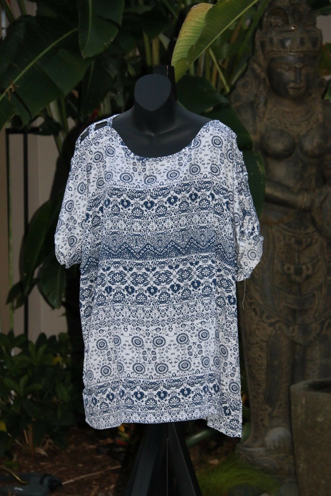 Balinese Kaftan Top - Beachwear / Casualwear - NEW 2 COLOURS AVAIL One Size