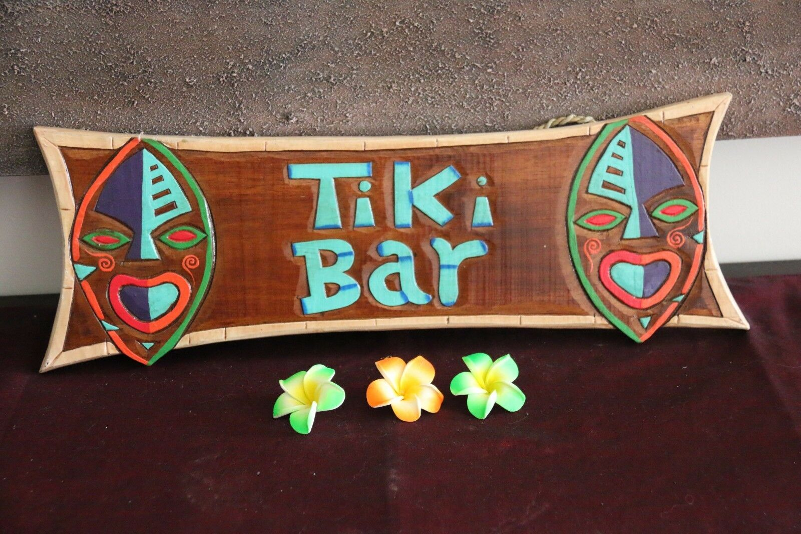 NEW Hand Crafted & Carved TIKI BAR Sign - Bali Bar Sign - Tropical Island Bar